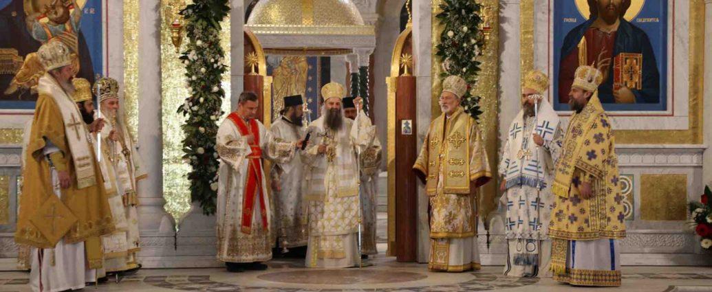Блаженнішого Митрополита Онуфрія названо серед Предстоятелів Православних Церков, від яких надійшли привітання новообраному Сербському Патріарху